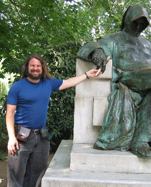 me in the park in Budapest 6/2003
